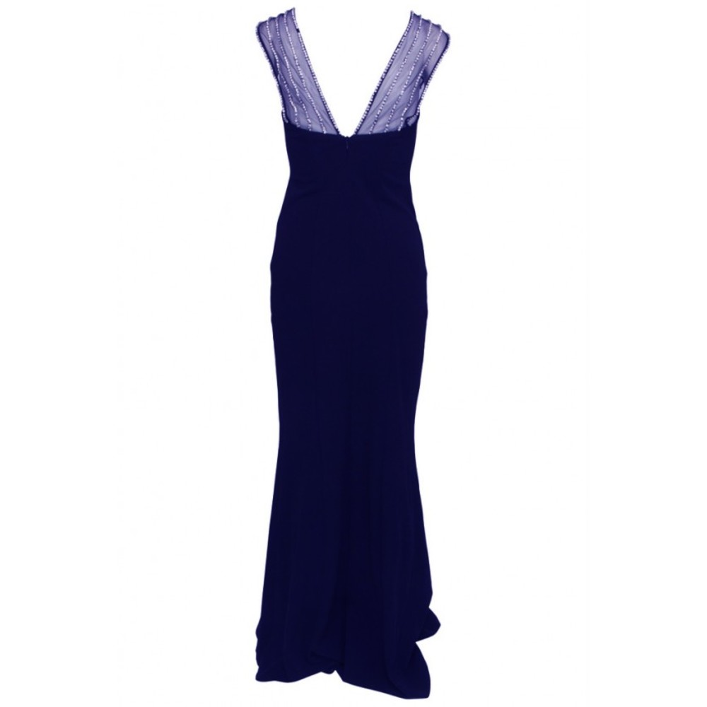 Quiz Navy Dress with diamonds Quiz