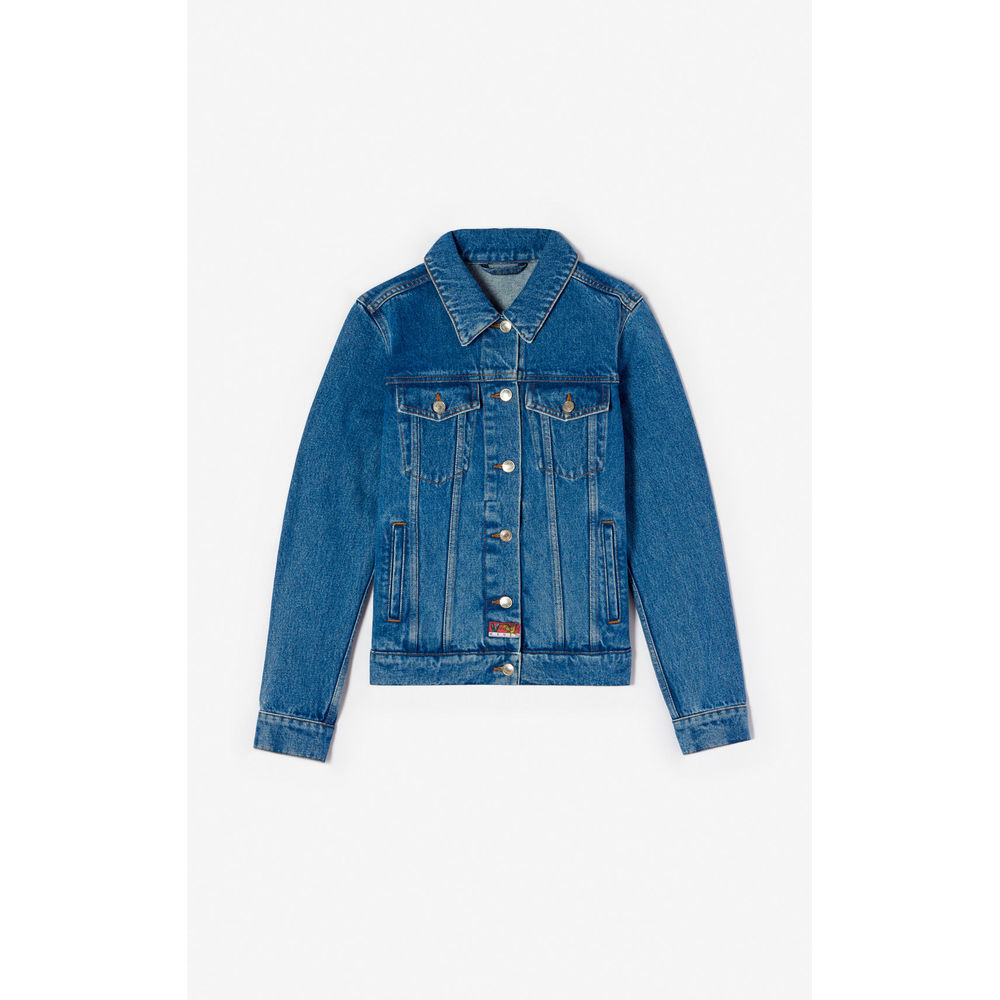 Bamboo Tiger denim jacket - Denim jakke med print - Kenzo