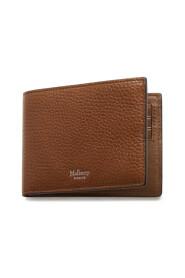 8 Card Wallet Oak Natural Grain Leather