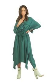 Vestito stile camicia con gonna asimmetrica