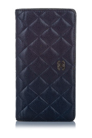 Matelasse Caviar Leather Long Wallet