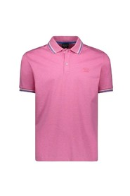 Piqué polo shirt with edging