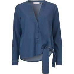 8ecad54217a9a2 Denim blue Tilly cross over blouse