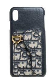 Pre-owned  Oblique Jacquard Canvas and Leather iPhone XS Max Case