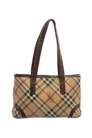 pre-owned Haymarket Coated Canvas and Leather Tote