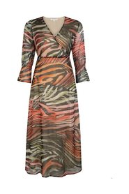 Dress Maxi Flamed Animal
