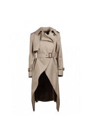 Asymmetric trench coat