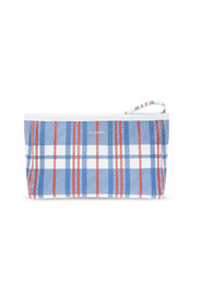 Barbes Small Zip Pouch With Handle In Blue