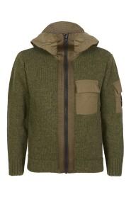 Sweatshirt Zippé Hooded Wool