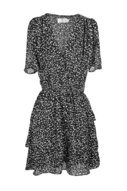 Dotted dress with flounces