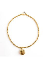 short necklace with round CC medaillon