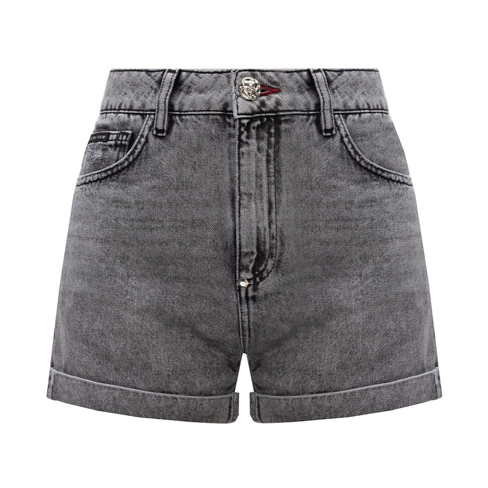 BLACK Denim shorts  Philipp Plein  Jeansshorts - Dameklær er billig