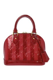 Pre-owned Vernis Rayures Alma BB Leather