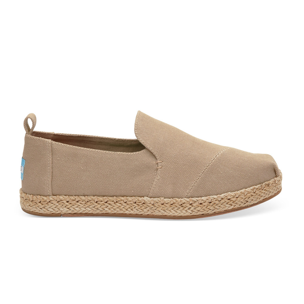 Taupe Washed Toms Decontructed Alpargata
