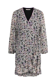 mini dress long sleeve FLOWER-PES-01