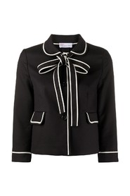 Bow detail cropped blazer