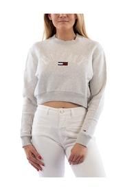 TJW Crop College Logo Sweatshirt