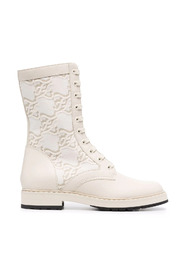 Karligraphy-motif ankle boots