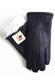 Warm Deer Skin Gloves Skind Handsker Håndsided - Sort
