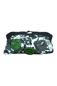 Fabric Small Clutch with Plastic Elements