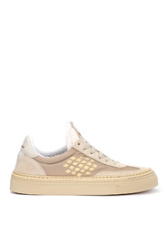 Roxy sand suede and nylon sneaker
