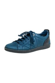 brukte Nubuck And Leather Low Top Sneakers