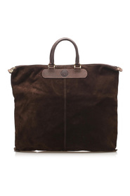 Suede Tote Bag Leather