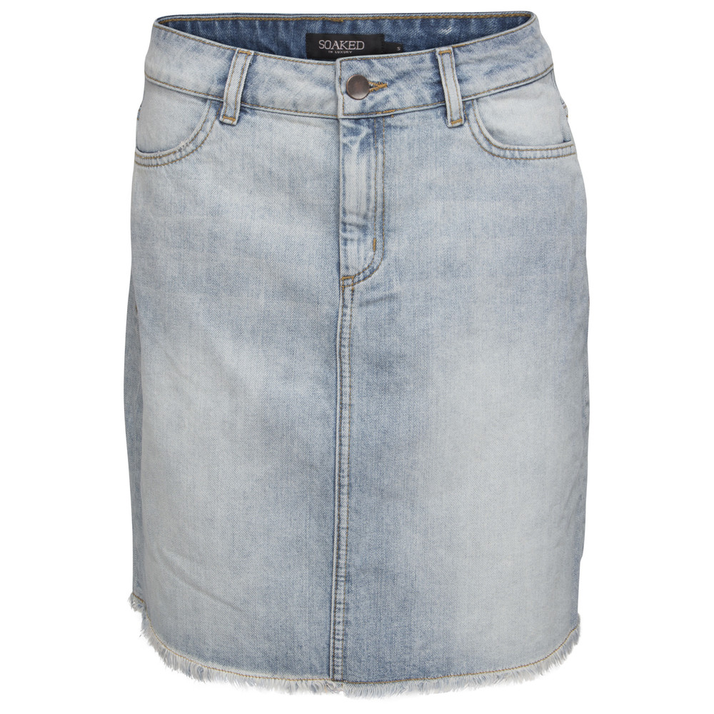 Soaked in Luxury Clayton Skirt Blue Denim