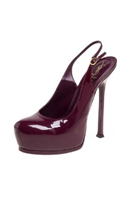 Pre-owned Round Toe Slingback Pumps