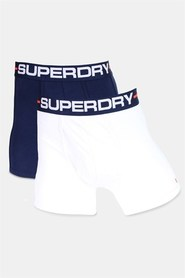 Superdry Sports Boxers Double Pack Optic/Richest Navy