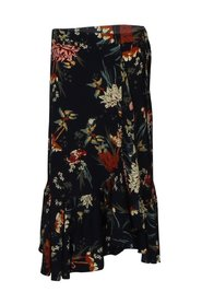 Floral wrap-around skirt