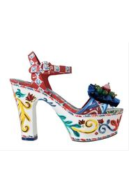Handpainted Crystal Sandals Majolica Shoes