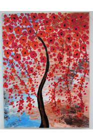 Maleri med blomster