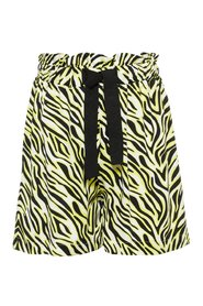 Shorts loose zebra printed