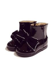 ANKLE BOOT WITH ZIP AND BOW IN VELVET
