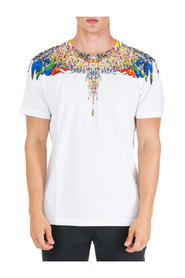 men's short sleeve t-shirt crew neckline jumper multicolor wings