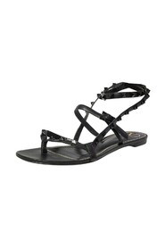 Pre-owned Ankle Strap Flair Flat Sandals