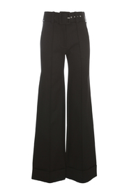 BELTED JERSEY TROUSER