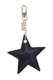 LEATHER STAR CHARM W/GOLD