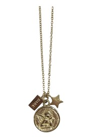 ANGEL COIN NECKLACE W/PLAIN CHAIN