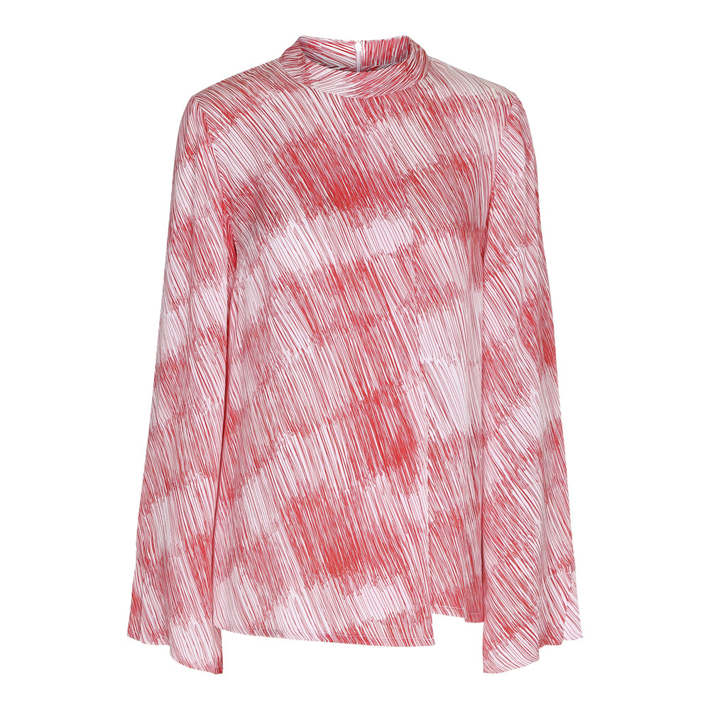 ranged printed blouse poppy red 2nd day