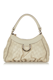 pre-owned Abbey D-Ring Shoulder Bag Leather Calf