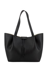 Shopper in textured leather