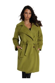 COAT WITH WAIST BELT AND BUTTONS