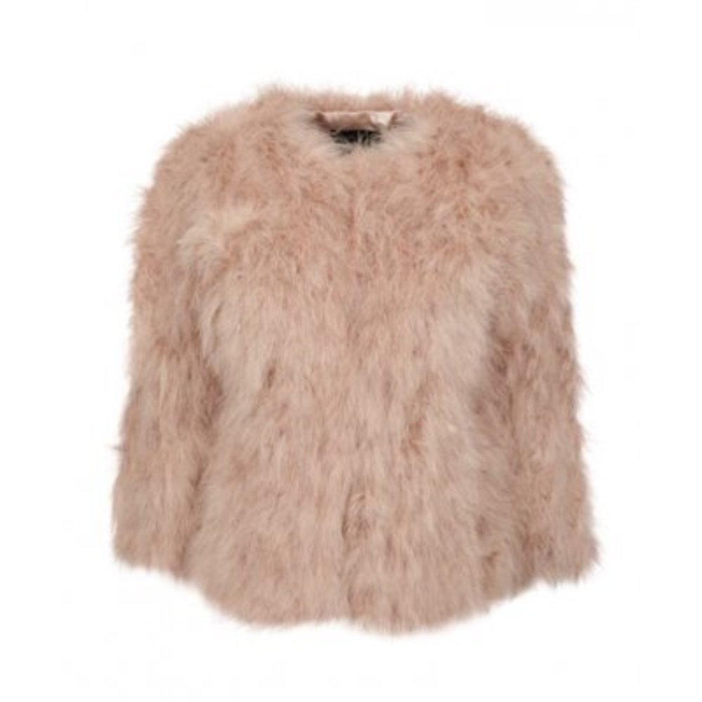 Natures Collection Mandy Jacket Of Marabou Feather Rosa