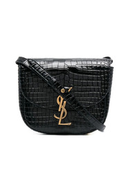 Kaia Small Satchel in Shiny Crocodile-embossed Leather