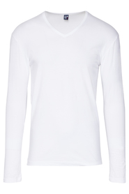 Alan Red t-shirt Model Oslo (Longsleeve) White