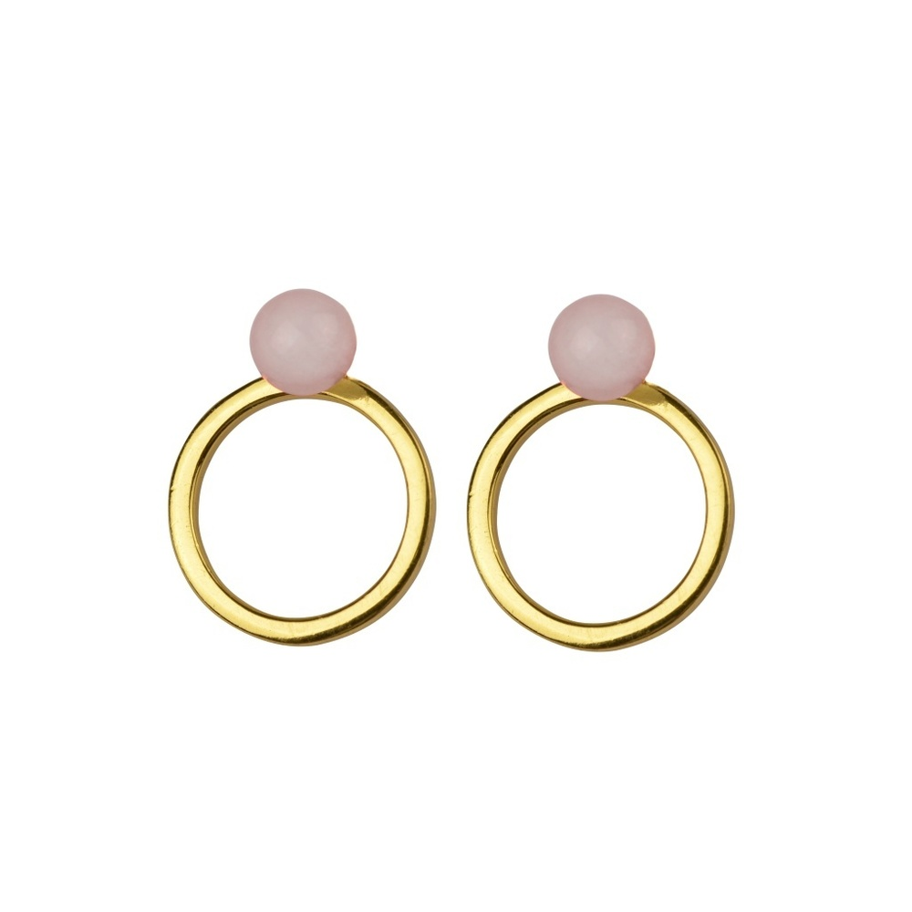 Planet earrings gold rose - Syster P