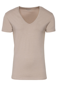 Slater T-Shirt Deep V-Neck Khaki Two Pack ( art 6740)