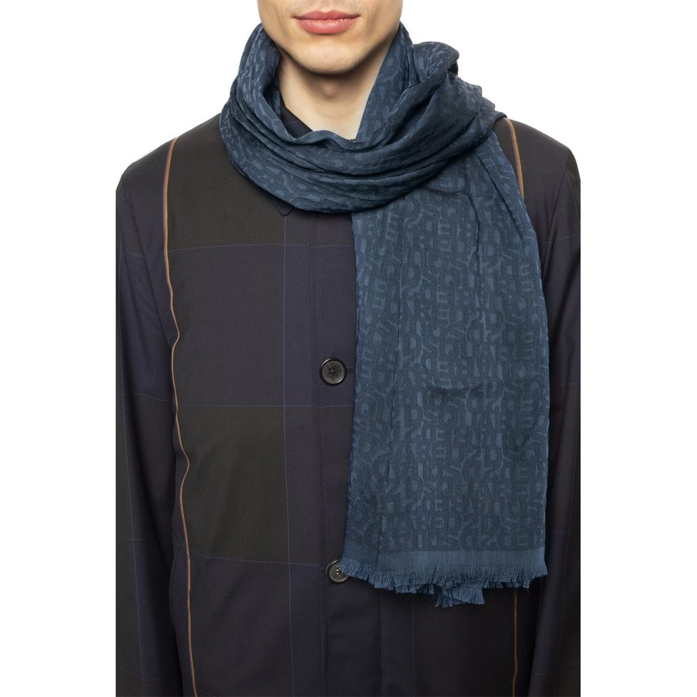 Blue Scarf with logo | Dsquared2 | Sjaals | Heren accessoires
